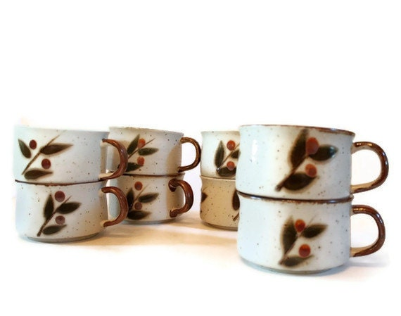 Otagiri Soup Mugs Bittersweet Pattern Set of 8