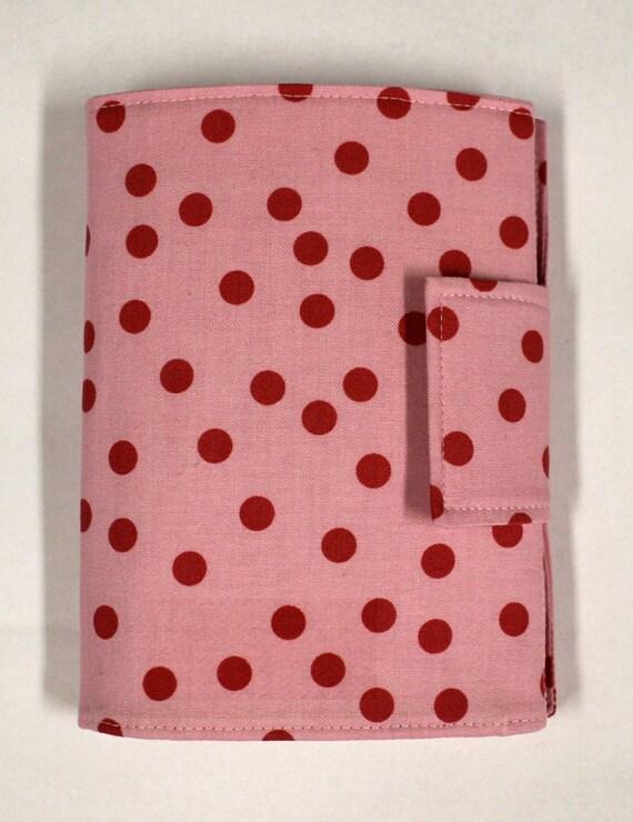 Children's Crayon Wallet - Pink Polka Dot Print
