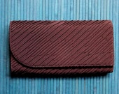 Fabric Clutch Bag vintage 50s 60s brown evening bag pleated ruched clutch purse Mad Men handbag high fashion hipster formal purse