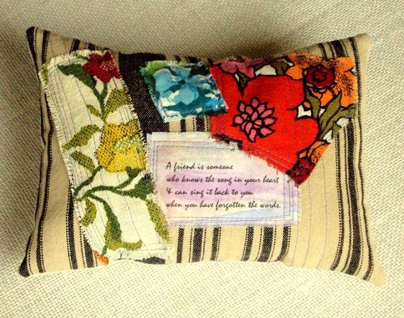 birthday gift - collage pillow - dream pillow - lavender pillow - decorative pillow - friend - housewarming gift