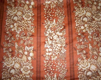 Vintage Waverly Authentic Screen Print Cavalier Toile Upholstrey Fabric BTY