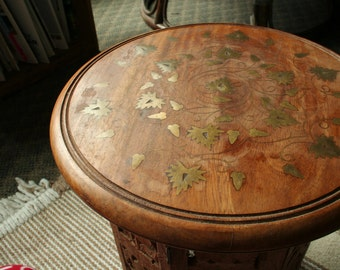 Hand Carved Table from India