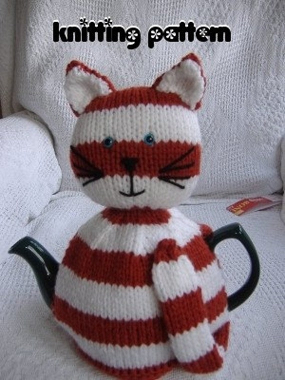 Free Patterns For Loom Knitting : Cat tea cosy knitting pattern by madmumknits on Etsy