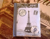 Paris, French, Altered Book Box w/Note Paper  - Ticket No. 0071