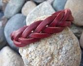 Weaved Leather Wrap Bracelet.Cuff/Bangle.Unisex.