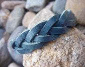 Leather Bracelet.Weaved Leather Wrap Bracelet.Cuff/Bangle.Unisex.