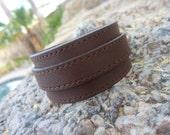 Leather Bracelet.Brown Surf Strap Leather Bracelet.Women.Men.Unisex.