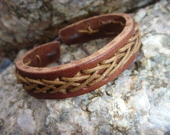 Leather Bracelet.Brown Handwork Genuine Leather Men&Lady's Cool Fashionable Charms Bracelets