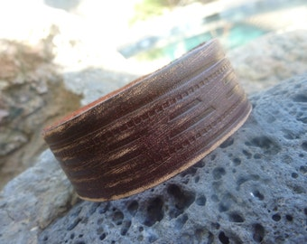 Leather Bracelet.Brown  Genuine Leather Wrist Cuff Bracelets.Unisex