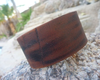 Leather Bracelet.Brown leather bracelet.Unisex