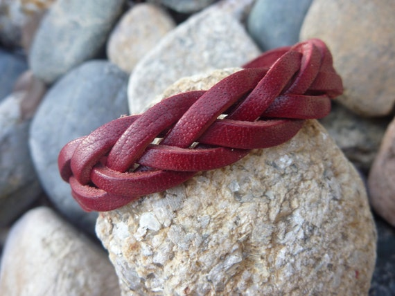 Weaved Leather Wrap Bracelet.Cuff/Bangle.Unisex.
