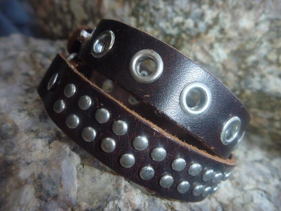 Leather Bracelet.Brown Unisex Leather Bracelet
