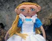 Alice in Wonderland mini Art Doll