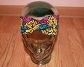 Yellow, Blue, & Purple Floral Turban Headband