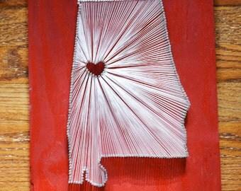 State String Art - Alabama String Art - Tuscaloosa - University of Alabama