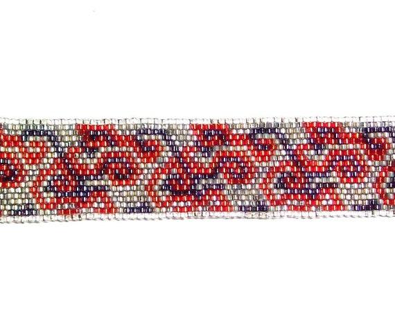 PDF Peyote Beading Pattern - Swirly Bracelet Band