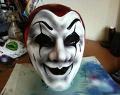 """Mask - """"Gus"""" the Mime - Venetian style Paper Mache' Mask, hand painted OOAK"""