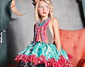 As seen in Babiekins Magazine, The Mad Hatter Dress, Marionette Inspired Costume, Birthday Dress, Party Dress, Circus Costume