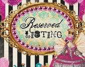 Reserved for prinnigirl, vintage circus headpiece