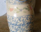 Vintage Blue Country Kitchen Pitcher