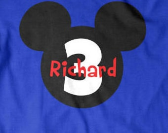 Personalized Mouse Ears Birthday Shirt