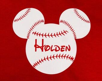 Custom Mouse Ears Baseball shirt