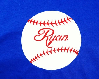 Personalized Boy Baseball shirt