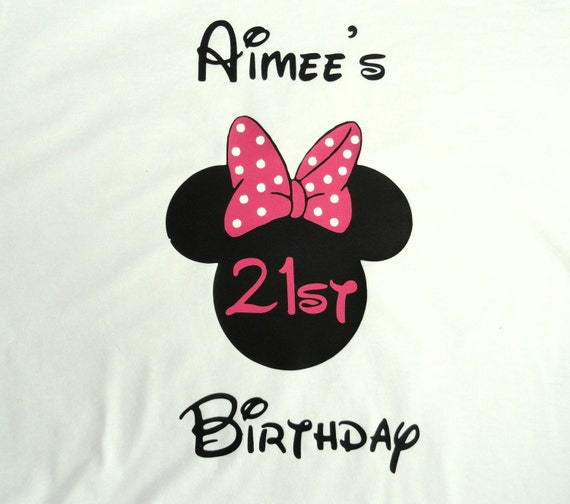 Personalized Mouse Ears with Bow women birthday shirt