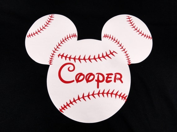 Custom Baseball Mickey mouse boys shirt
