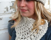 Fanciful Contoured Neck Wrap- Crochet Mini Scarf