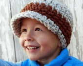 Thickie- Crochet Hat with Brim for KIDS- choose your colors