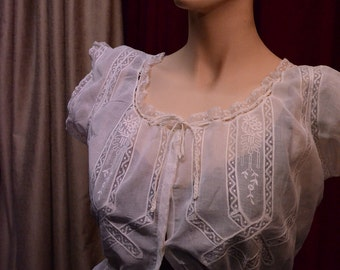 Blouse, Titanic, Antique lace, 1920s.