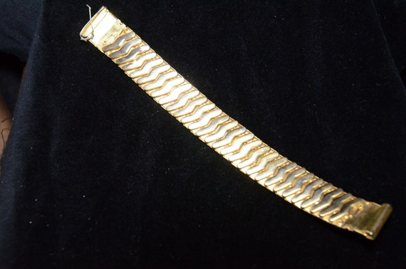 Gold men's watch band stretchy