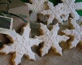 Snowflake  Cookies - 12 Sugar Cookies - 3.00 each -  Winter Cookies - Any colors.