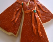 Bridal Wedding Dress  - Sugar Cookies - 3.25 each - Bridal Favors - Bridal Shower - Custom Colors