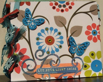 Chipboard Album in Vibrant Colors Let Your Light Shine