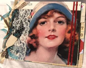 Chipboard Album and Journal Modern Priscilla Vintage 1920s Magazine