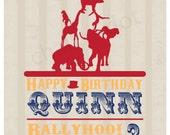 Custom Printable: Circus Theme Birthday Invitation