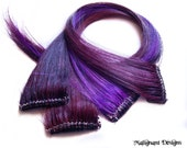 SET OF FOUR 16 Inch Purple Clip-in Hair Extensions - Bulk Lot