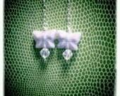 Lavender Butterfly & Sterling Earrings