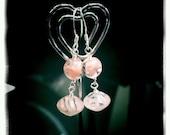 Bubblegum Czech Glass & Sterling Earrings