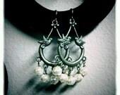 Love Birds - Glass Pearl Earrings
