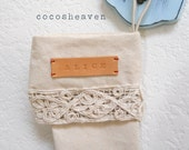 1 Personalized leather label for Christmas stocking