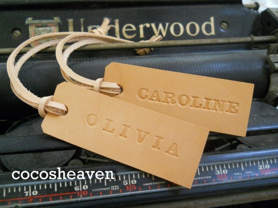 Reserved for JMTZ Family - Custom leather backpack tag (set of 7) - 14 tags
