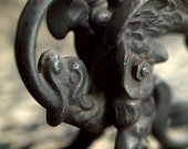 Dragon, Serpent Candle Holder in Cast Iron Gothic Home Decor
