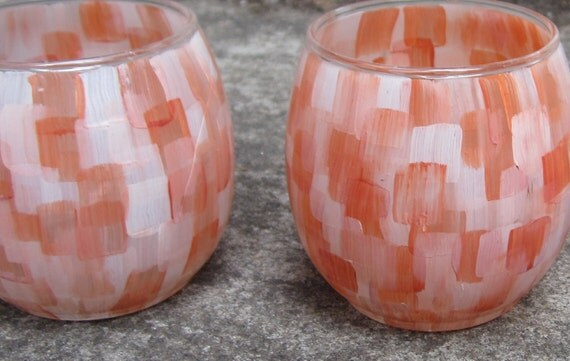 Coral Votive Candle Holders For Wedding
