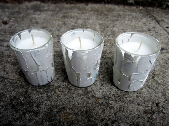 Small White Votive Candle Holders For Centerpiece