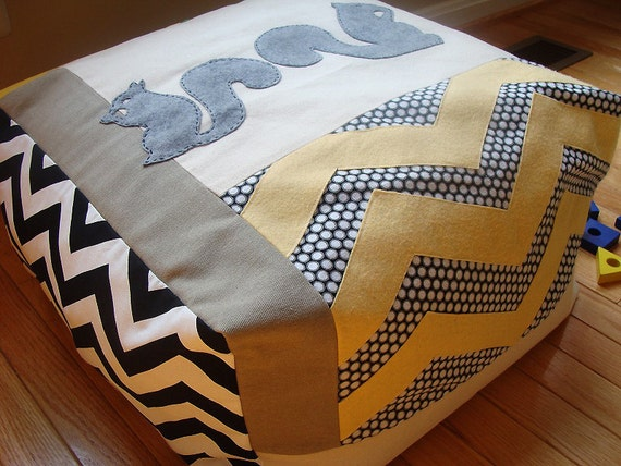 pouf children modern floor cushion seating one of a kind