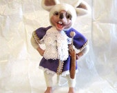 Mouse-the-Lionheart I  fairy white Artist Doll - OOAK Handmade Needle Felted