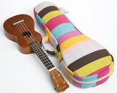 Soprano ukulele case - Colourful Pop - Colourful stripe Ukulele Case ( Made to order)